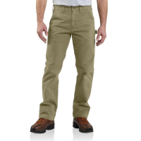 Carhartt | Men's B324 Factory 2nd Washed Twill Pant | Dark Khaki | 31W x 32L | Relaxed Fit | 100% Cotton Peached Twill | 9.25 Ounce | Dungarees