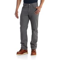 Carhartt | Men's 102517 Factory 2nd Rugged Flex'Rigby Five Pocket Pant | Gravel | 30W x 30L | Relaxed Fit | Cell Phone Pocket | 8 Ounce | Dungarees