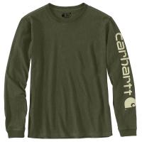 Carhartt  103401 Women's WK231 Long Sleeve Logo T-Shirt - Basil Heather 2X-Large Regular