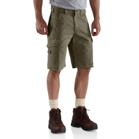Carhartt | Men's B357 Factory 2nd Ripstop Work Short | Moss | 31W | Relaxed Fit | Cargo Pockets | 11 Inch Inseam | Dungarees