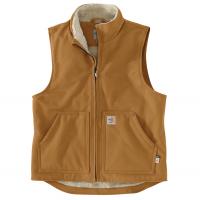 Carhartt Mens 104981 Factory 2nd Flame-Resistant Duck Sherpa-Lined Vest - Carhartt Brown Large Regular