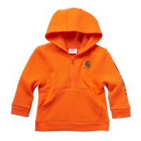 Carhartt  CA6187 Fleece Long Sleeve Half Zip Sweatshirt - Boys - Exotic Orange 9 Months