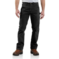 Carhartt | Men's B324 Factory 2nd Washed Twill Pant | Black | 48W x 32L | Relaxed Fit | 100% Cotton Peached Twill | 9.25 Ounce | Dungarees