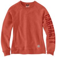 Carhartt  104410 Women's Midweight Graphic Sweatshirt - Earthen Clay Heather X-Small Regular