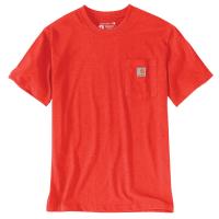 Carhartt | Men's K87 Short Sleeve Pocket T-Shirt | Currant Heather | 3X-Large Regular | Original Fit | 100% Cotton | 6.75 Ounce | Dungarees