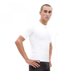 Zoot Sports CompressRx Active Short Sleeve Compression Top Size 2 Color White