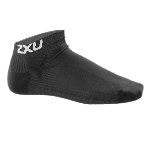 Image of 2XU Performance Low Rise Running Sock - Women's Size XS/S Color Black/Black