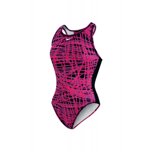 Image of Nike Blaze High Neck Tank Water Polo Suit - Female Size 26 Color BrightCrimson
