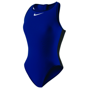 Image of Nike Solids High Neck Tank Water Polo Suit - Female Size 28 Color MidnightNavy