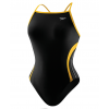 Speedo Rapid Splice Energy Back Swimsuit Girl's Size 26 Color Black/Gold