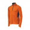 Brooks Nightlife Infiniti 1/2 Zip Long Sleeve Running Top Men's Size S Color BriteOrange/Anthracite
