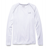Under Armour Tech Long Sleeve Workout Shirt Men's Size M Color White/Steel