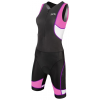 TYR Padded Competitor Front Zip Triathlon Suit Women's Size S Color Black/Purple