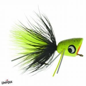 Umpqua Bass Popper Chartreuse Splatter 3942