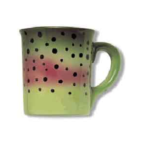 Abstract Stoneware Mugs- Rainbow Trout 1816