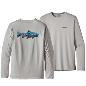 Patagonia Mens Graphic Tech Fish Tee Fitz Roy Trout 3285