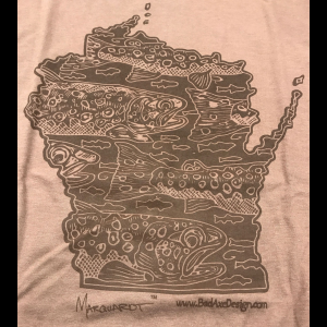 Bad Axe Design - Wisconsin Tee 3296
