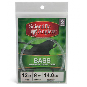 Scientific Anglers Bass Nylon Leader 2-Pack 1834