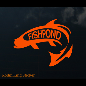 Fishpond Rolling King Sticker 4033