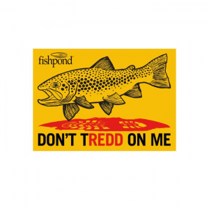 Fishpond Don't TRedd On Me Sticker 4038
