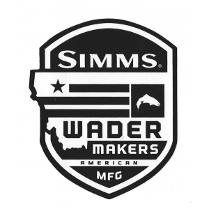 Simms Wadermaker Badge Decal 4049
