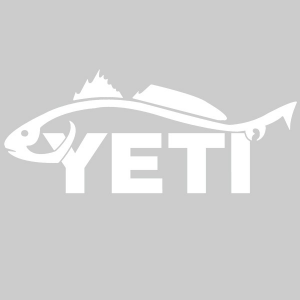 Yeti Redfish Window Decal 4155