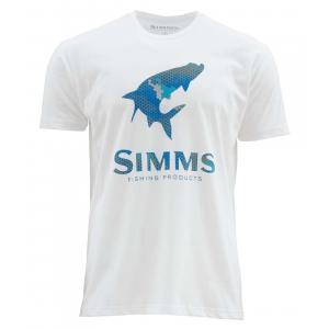 Simms Hex Camo Tarpon Logo SS T 4647