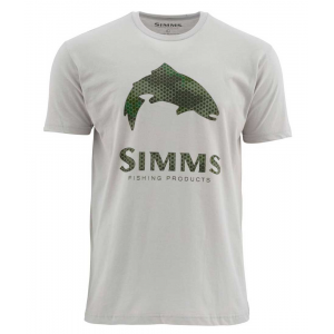 Simms Hex Camo Trout Logo SS T 4645