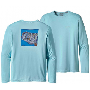 Patagonia Mens Graphic Tech Fish Tee Tarpon Eat 4742