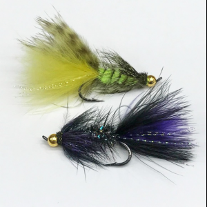 Gold Bead Steelhead Bugger - Mult Colors 4941
