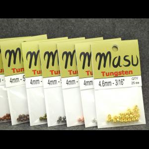 25 Pack Tungsten Beads by Masu