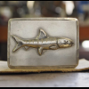 Hand Forged Buckle : Sterling Bonefish