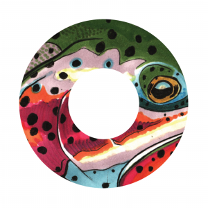 Redington i.D 5/6 WT Fly Reel Decal Rainbow - K.C. Badger
