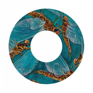 Redington i.D 3/4 WT Fly Reel Decal Mayflies - Udesen