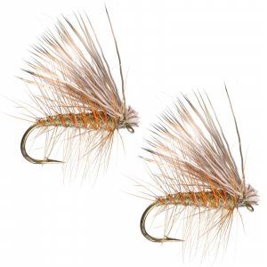 Umpqua Elk Hair Caddis Olive 18 - 2 Pack