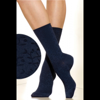 Silkies Laurel Pattern Microfiber Crew Socks