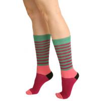 Women's Striped Multi-Colored Crew Socks