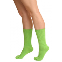 Women's Ribbed Crew Socks