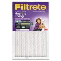 16x25x1 (15.6 x 24.6) Ultra Allergen Reduction 1500 Filter by 3M(TM) (2 Pack)
