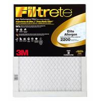 16x20x1 (15.6 x 19.6) Filtrete Elite Allergen Reduction 2200 Filter by 3M(TM) (2 Pack)