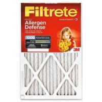 16x25x1 (15.6 x 24.6) Filtrete Allergen Defense 1000 Filter by 3M(TM) (2 Pack)