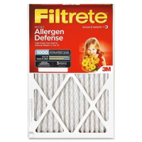 20x25x1 (19.6 x 24.6) Filtrete Allergen Defense 1000 Filter by 3M(TM) (2 Pack)