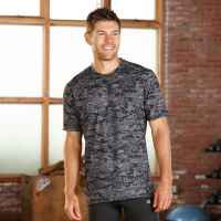 Mens R-Gear Runners High Printed Short Sleeve Technical Tops(M)