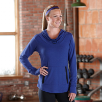 Womens Road Runner Sports Sheer Bliss Pullover Long Sleeve No Zip Technical Tops(XL)