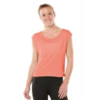 Womens ROAD RUNNER SPORTS Stripe Hype Short Sleeve Technical Tops(L)