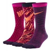 Nike Kids Graphic Lightweight Cotton Crew 3 pack Socks(M)