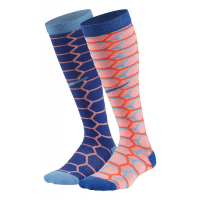 Nike Kids Cushion Graphic Over The Calf 2 pack Socks(S)