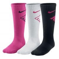 Nike Kids Graphic Performance Cushion Crew 3 pack Socks(S)