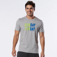 Mens Road Runner Sports Run Day Fun Day Graphic Short Sleeve Technical Tops(M)