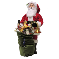 """Byers Choice - 30"""" Red Velvet Santa with Assorted Toys"""
